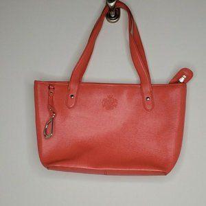 Lauren Ralph Lauren Newton Tote Bag Orange Shopper